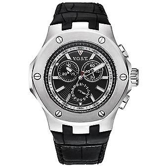 V.O.S.T. Germany V100.002 Steel Chrono men's watch 44mm
