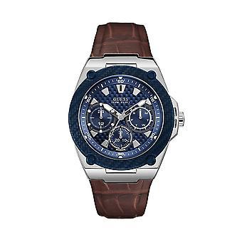 כנראה W1058G4 קוורץ אנלוגי עם רצועת עור גברים ' s שעון