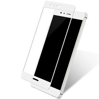 Huawei P8 Lite 2017 3D panssaroidut lasi folio näyttö 9 H suojaavan kalvon kattaa palvelupyynnön valkoinen