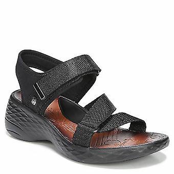 BZees Womens Jive Fabric Open Toe Casual Slingback Sandals