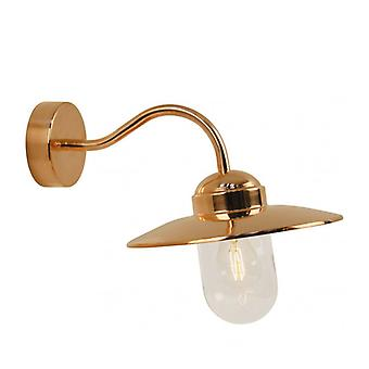 Luxe Outdoor Copper Wall Light 27 Cm