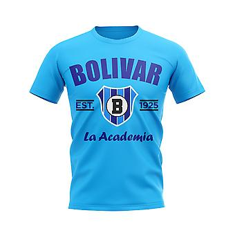 Bolivar etablert fotball T-skjorte (Sky)