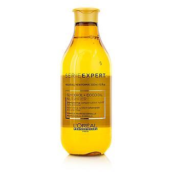 Professionnel serie expert nutrifier gliceol + coco óleo nutritivo sistema de silicone shampoo livre de silicone 217487 300ml /10.1oz