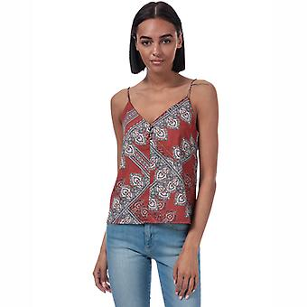 Women's Only Diana Scarf Print Cami Top in Brown