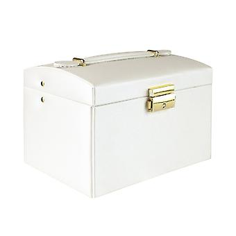 Jewelry box, Artificial leather - White