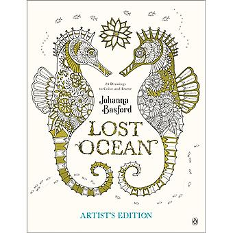 Lost Ocean Artists Edition An Inky Adventure and Coloring Book for Adults 24 Drawings to Color and Frame par Johanna Basford