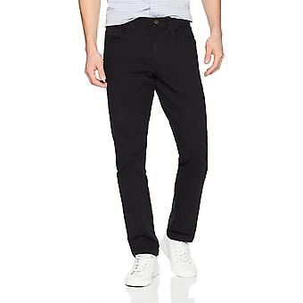 Goodthreads Men's Slim-Fit 5-Pocket Chino Pant, Black, 33W x 32L