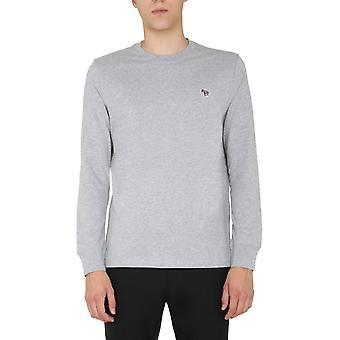Ps By Paul Smith M2r828razebra72 Men's Grey Cotton Sweater