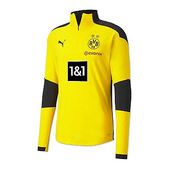 2020-2021 Borussia Dortmund Half Zip Training Top (Yellow)