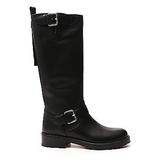 Red Valentino Uq2s0d95kbb0no Women's Black Leather Boots