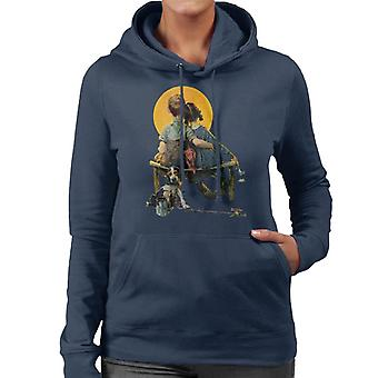 The Saturday Evening Post Norman Rockwell Sunset 1926 Cover Women's Hooded Sweatshirt