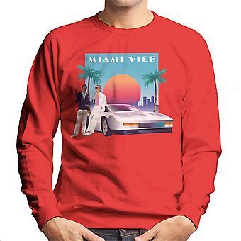 Miami Vice zonsondergang mannen ' s Sweatshirt
