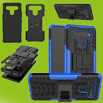 עבור LG K41S במקרה היברידי 2-קטע חיצוני כחול מקרה שרוול כיסוי הגנה