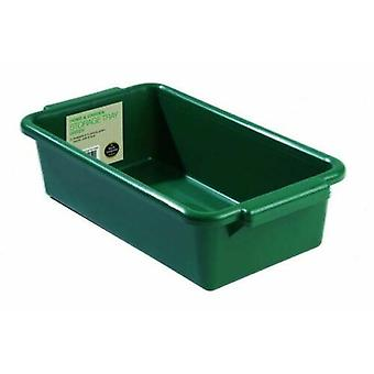 Home and Garden Deep Multipurpose Storage Tray Green