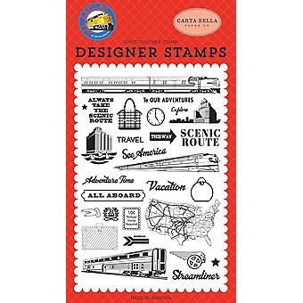 Carta Bella To Our Adventures Clear Stamps