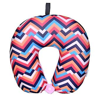 Bohemia Beach U Shaped Nanoparticles Neck Support Headrest Health Care Cushion - Airplane Flight Foam Particles Pillow For Travel