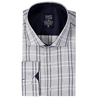 Casual plaid white shirt | wessi