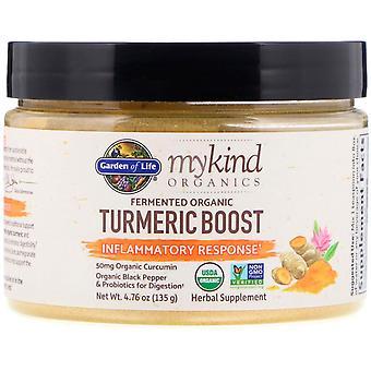 Garden of Life, MyKind Organics, Fermented Organic Turmeric Boost, Inflammatory