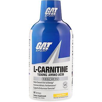 GAT, L-Carnitine, Aminozuur, Citroenexplosie, 1.500 mg, 16 oz (473 ml)