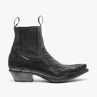Sendra 4660p Mens Python Cowboy Boots Grey