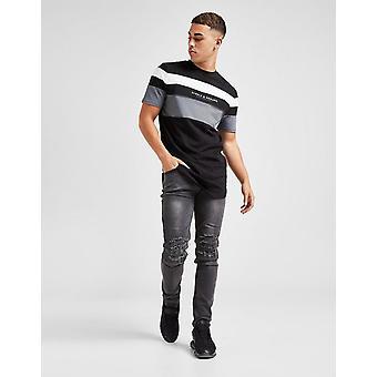 Nieuwe Supply & Demand Men's Essential Distressed Skinny Jeans Grijs