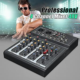 Mixer Professional 4-Channel-Studio Audio-Mixing Console Amplifier Digital Mini Microphone-Sound Mixer Sound-Card