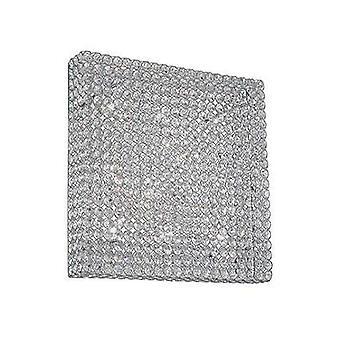 Ideal Lux Admiral - 10 Light Large Square Ceiling Flush Light Chrome, G9