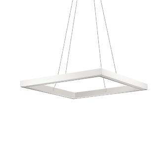 Ideale Lux ORACLE - Lampada a sospensione a soffitto quadrata a LED integrata 1 bianco chiaro 3000K