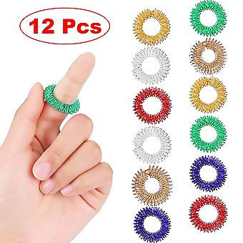 Finger Ring Toy Stress Relief Sensory Spring Rings Autism Anti Stress
