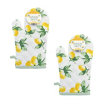 Country Club Set of 2 Lemons Oven Mitts