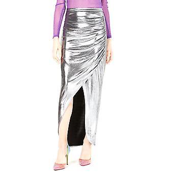 Leyden | Ruched Metallic Maxi Skirt