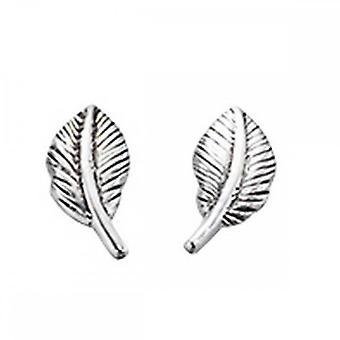 Beginnings Sterling Silver A886 Feather Stud Earrings