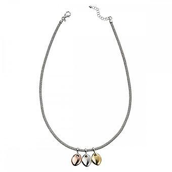 Anfänge Sterling Silber Mesh mit passenden Scheiben Halsketten N4322