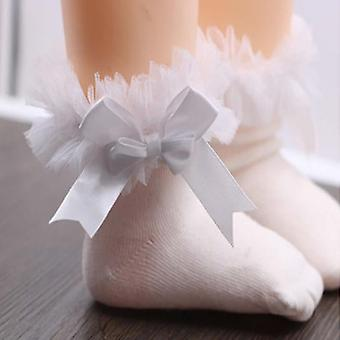 New Bow Lace Cotton Children Baby Girls General Short Products Princess Style Floral Casual Socks