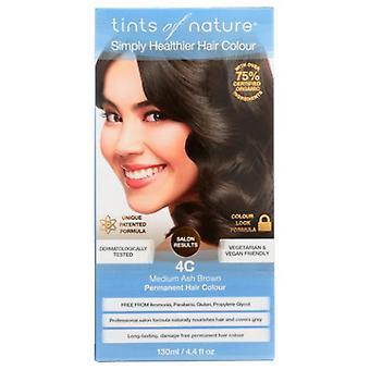 Tints of Nature Permanent Hair Color, 4C Medium Ash Brown 4.4 Oz
