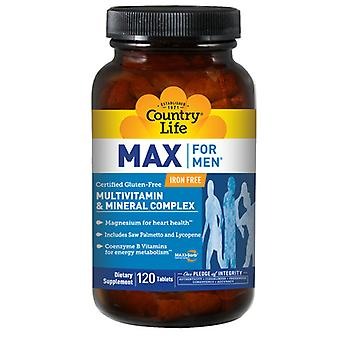 Country Life Max For Men, 120 Tabs