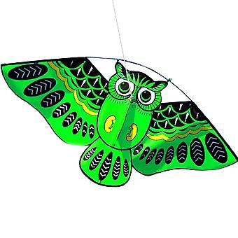 3d Owl Kite - Funny Educational Outdoor Playing Activity Game For Children green