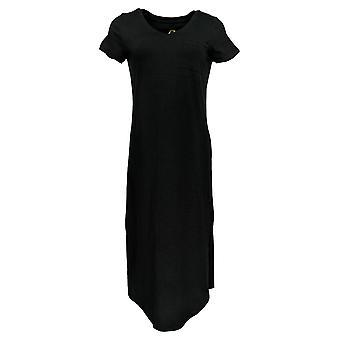 C. Wonder Dress Essentials Slub Knit Midi Black 289778