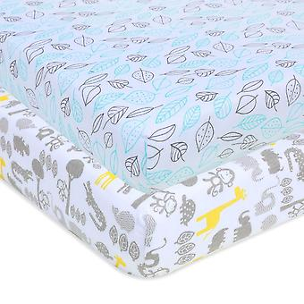 Cotton Mattress Sheets For Universal Baby Crib