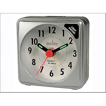 Acctim Ingot Alarm Clock Silver 12587