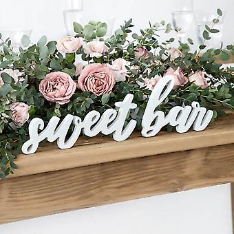 Wedding Sweet Bar Sign   Wooden Party Table Rustic Decoration Treats