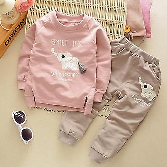 Spring Baby Tracksuit Kids Long Sleeve Top Leisure Streamers Pants Clothing