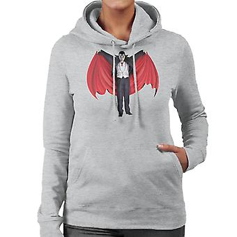 Dracula Cape Full Women's Hooded Sweatshirt