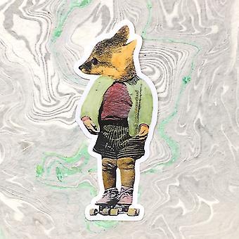 Roller Skate Fox Vinyl Aufkleber