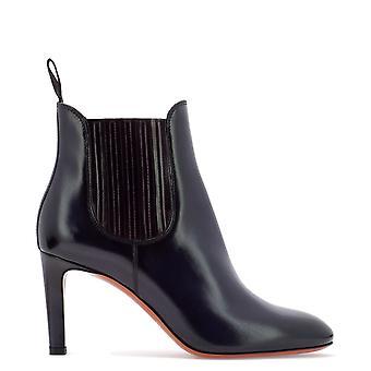 Santoni Wtms54079hi2clbcu54 Women's Blue Leather Ankle Boots