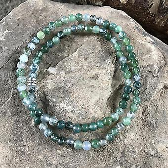 Moss Agate Mini Bead Bracelet