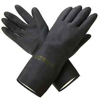 Mayitr Heavy Duty Natural Rubber Garden Gloves, Acid Alkali Resistant, Chemical