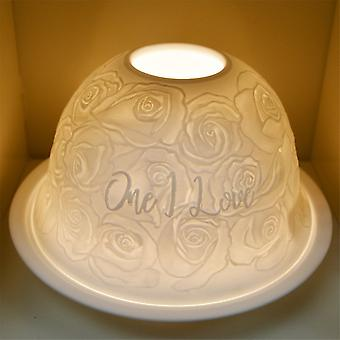 Nordic Lights One I Love Tealight Candle Shade And Tray