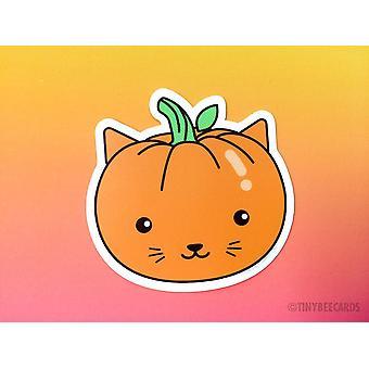 Cat Pumpkin Vinyl Sticker