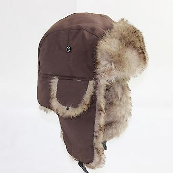 Unisex Russian Trapper Bomber Warm Trooper Ear Flaps Winter Ski Hat/women